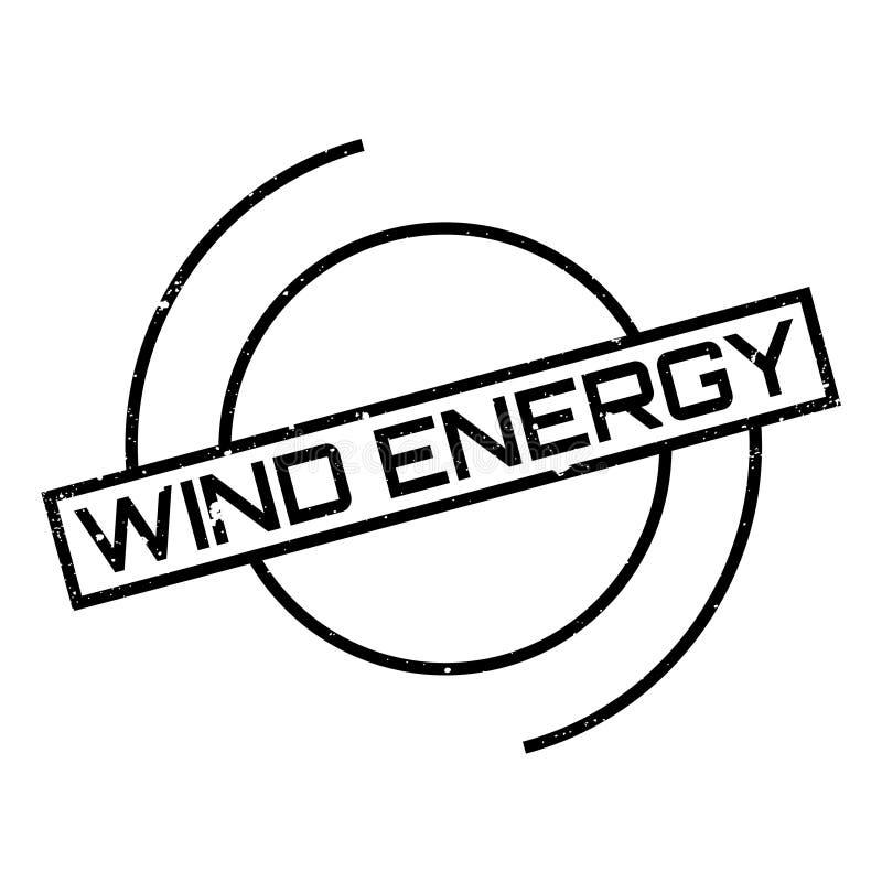 Wiatrowej energii pieczątka ilustracji
