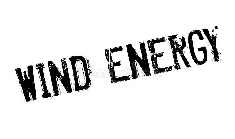 Wiatrowej energii pieczątka ilustracja wektor