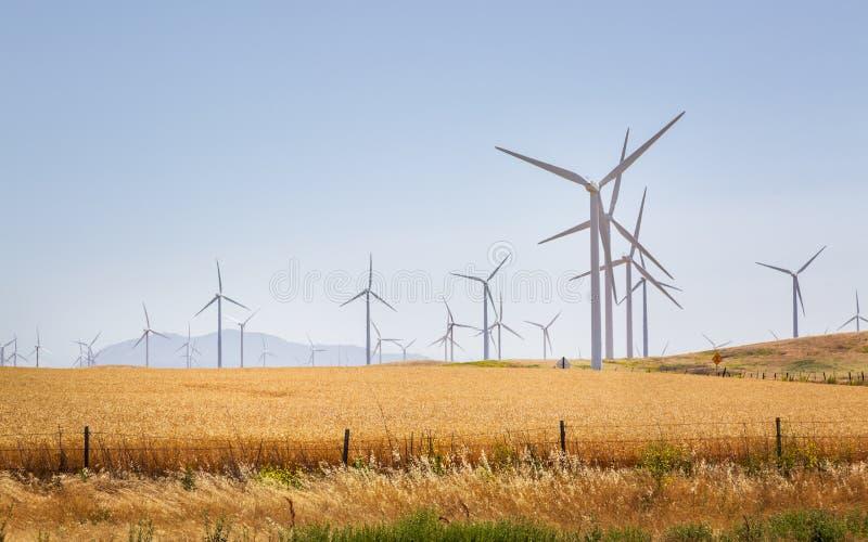 Wiatrowi generatory, Kalifornia, Stany Zjednoczone Ameryka fotografia stock