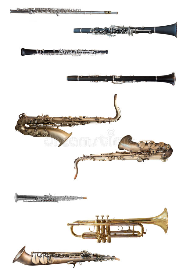 Wiatrowi instrumenty obrazy stock