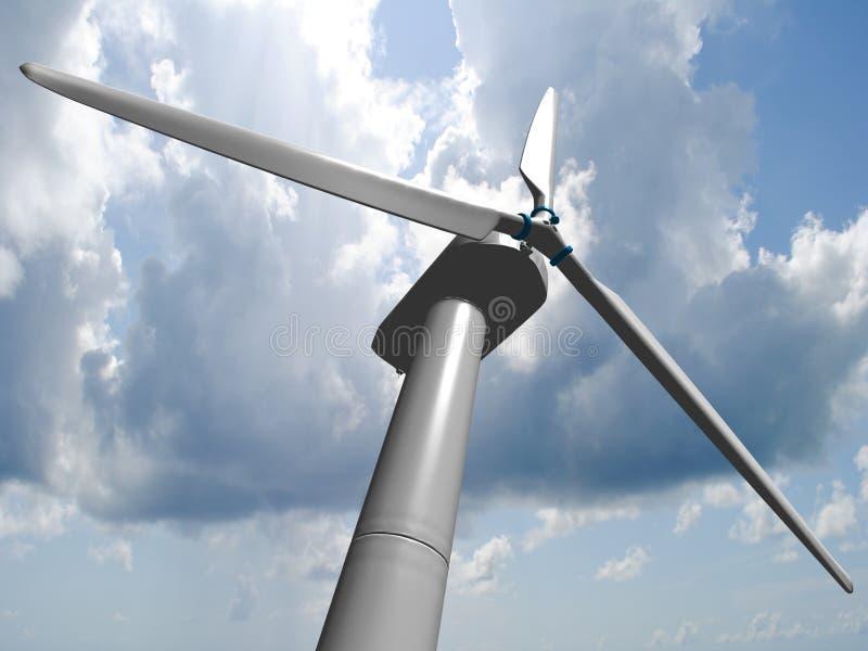 Wiatrowi młyny, energia odnawialna. royalty ilustracja