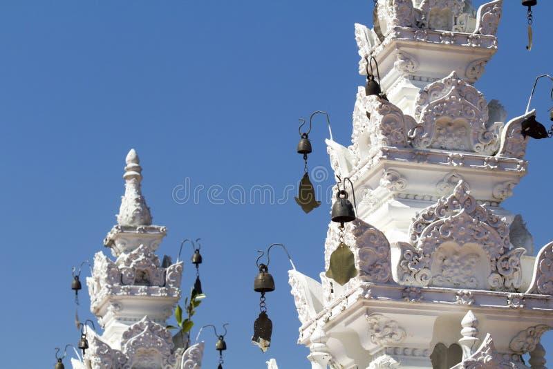 Wiatrowy chime Tajlandzka tradycyjna świątynia zdjęcia royalty free