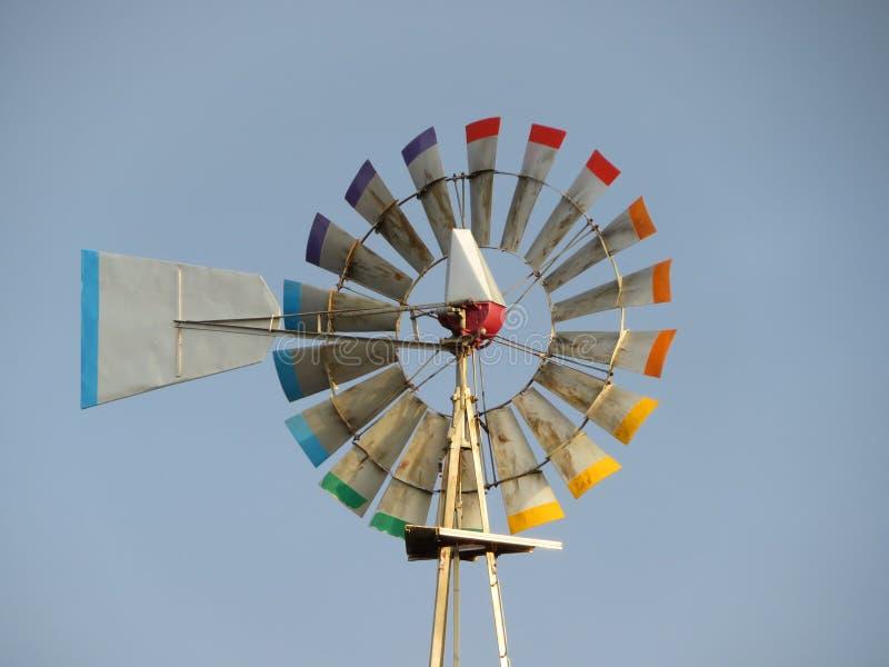 Wiatrowy generator gotowy produkować energię przez powietrza obraz royalty free