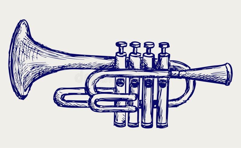 Wiatrowy instrument muzyczny ilustracja wektor