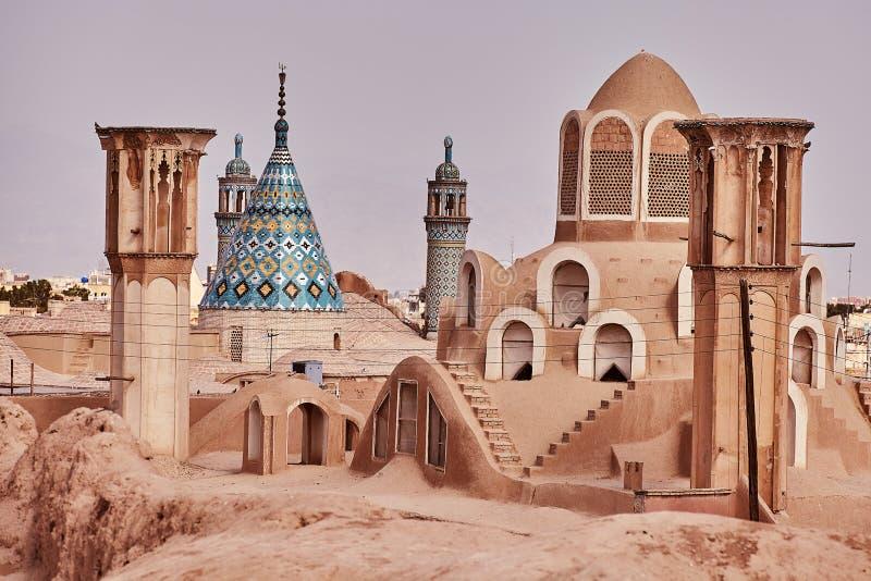 Wiatrowy wierza Borujerdi historial dom w Kashan, Iran obrazy royalty free