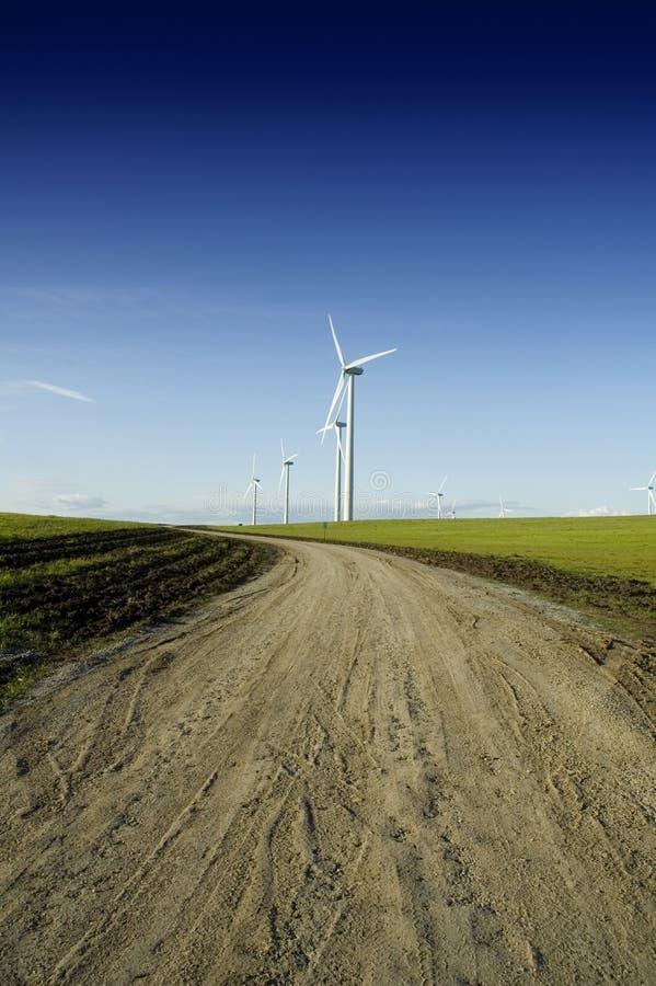 Wiatru źródło zasilania zasilany elektryczny zdjęcia stock
