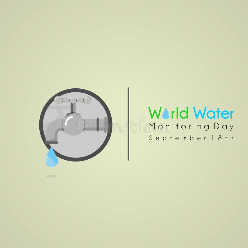 ?wiatu monitorowanie wodny dzie? royalty ilustracja