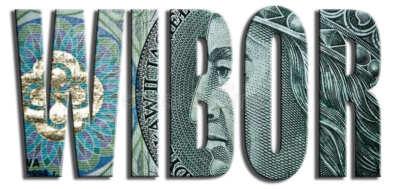 WIBOR - Warszawski Interbank oferty tempo 100 PLN tekstura royalty ilustracja