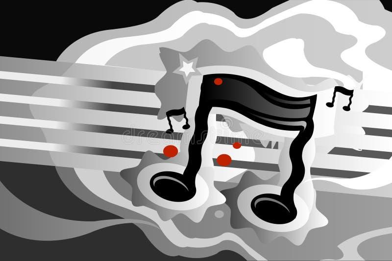 wibracje muzycznych royalty ilustracja