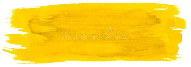 Wibrującej Żółtej akwareli abstrakcjonistyczny tło, plama, pluśnięcie farba, plama, rozwód Roczników obrazy dla projekta i dekora ilustracji