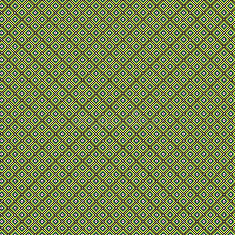 Wibrującej Abstrakcjonistycznej Kolorowej Kwadratowej siatki Nowożytny Deseniowy tło ilustracja wektor
