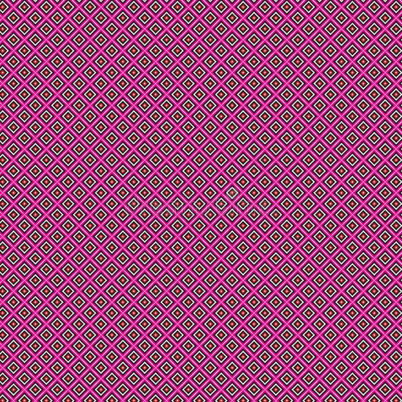 Wibrującej Abstrakcjonistycznej Kolorowej Kwadratowej siatki Nowożytny Deseniowy tło ilustracji