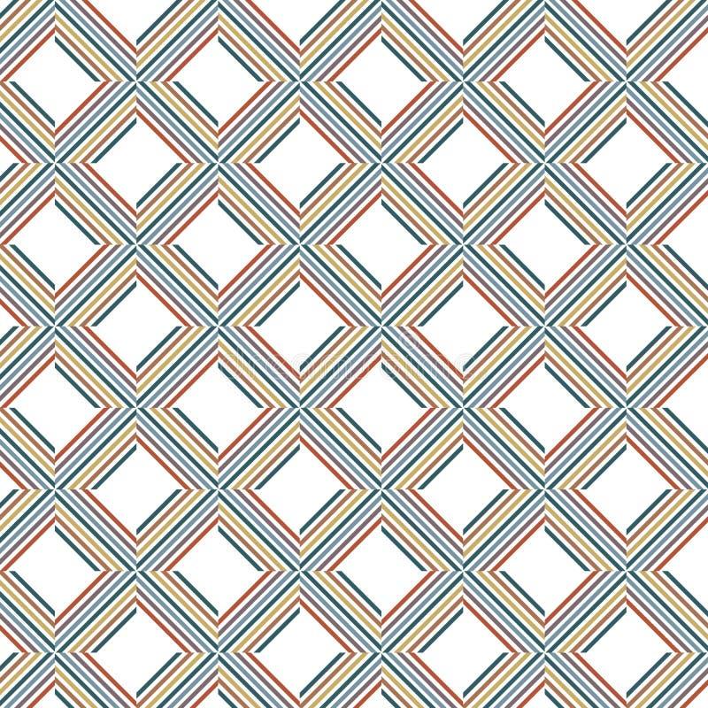 Wibrujący Abstrakcjonistyczny Kolorowy lampas linii siatki sieci wzoru tło ilustracji