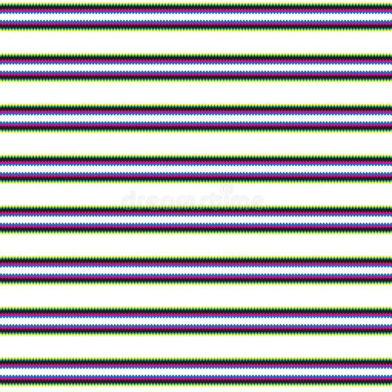 Wibrujący Abstrakcjonistyczny Kolorowy lampas Wykłada Rodzimego Etnicznego Nowożytnego Deseniowego tło ilustracji