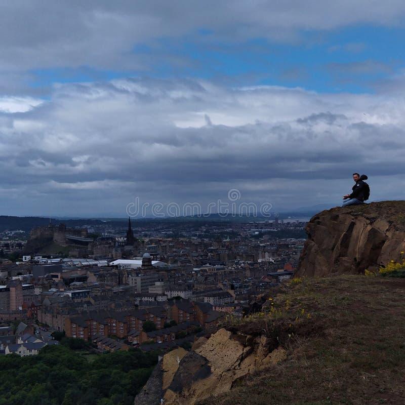 Wibrujący gothic miasto Edynburg obraz royalty free