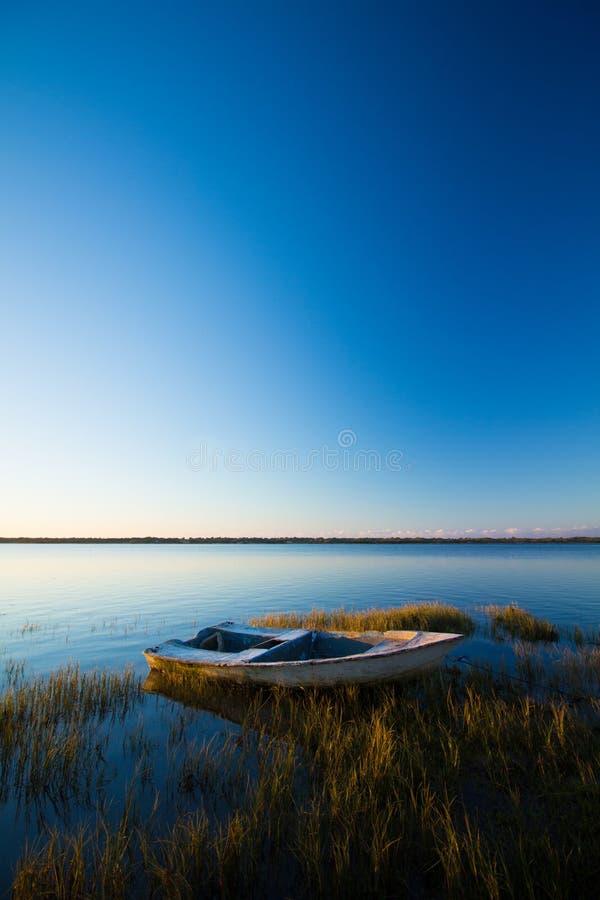 Wibrujący laguna widok zdjęcia royalty free