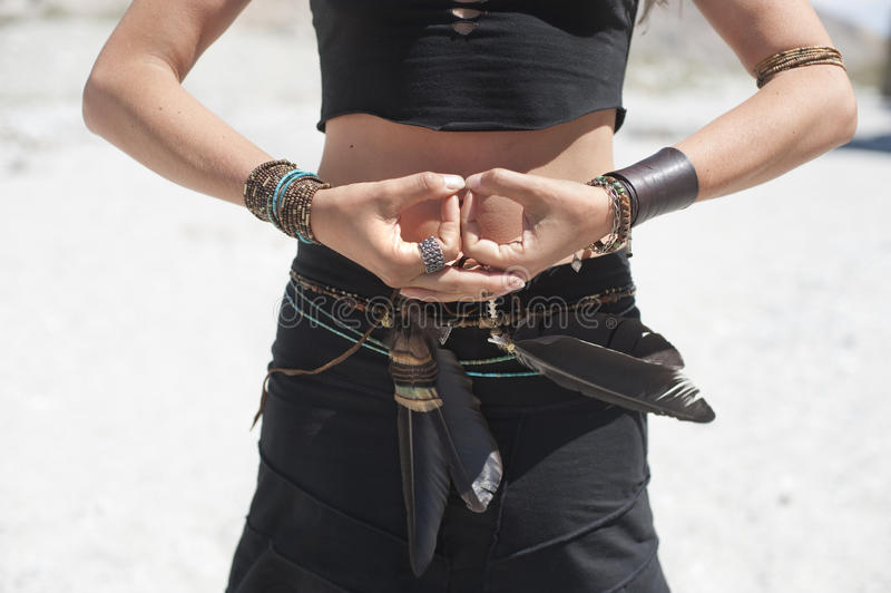 wicca χεριών στοκ εικόνα με δικαίωμα ελεύθερης χρήσης