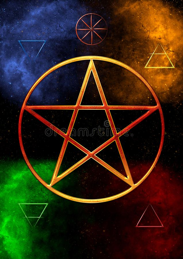 Wicca Elements royalty free illustration
