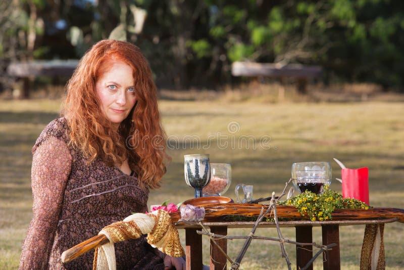 Wicca femenino Practioner foto de archivo