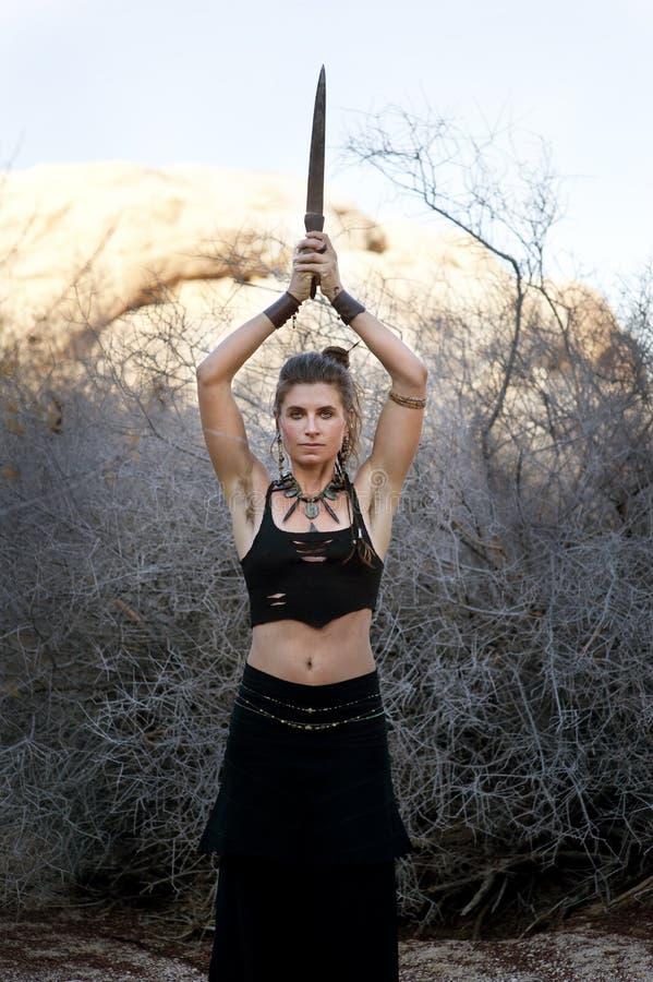 Wicca Krieger lizenzfreies stockbild