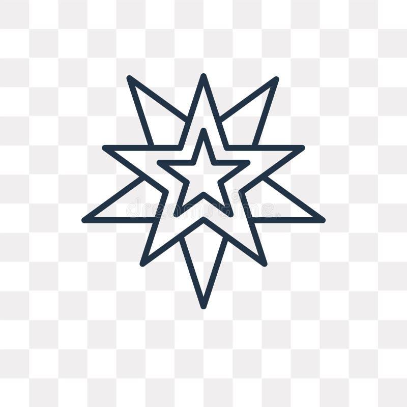Wicca wektorowa ikona odizolowywająca na przejrzystym tle, liniowy Wic royalty ilustracja