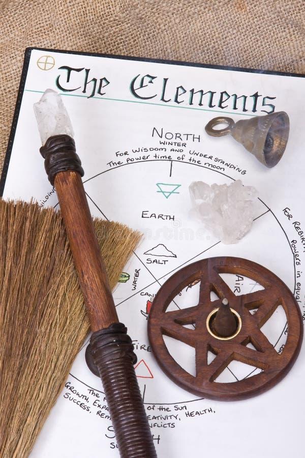 wiccan礼节的工具 库存照片
