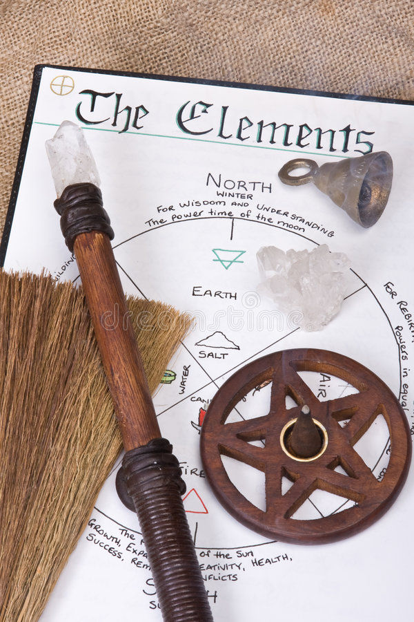 Wiccan Ritual Tools stock photo