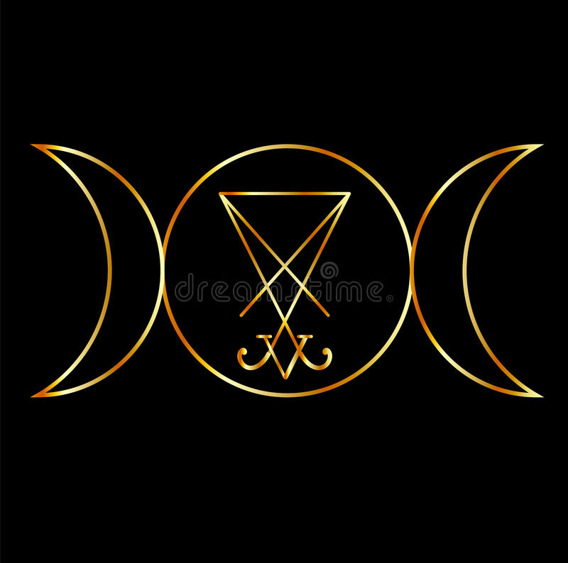 Free Wiccan Symbol With Sigil Of Lucifer Royalty Free Stock Image - 66989726