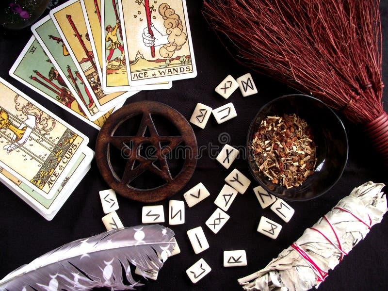 Wiccawerkingen royalty-vrije stock fotografie