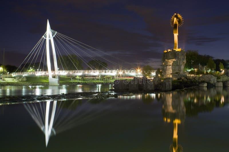 Wichita Bridge royalty free stock photos