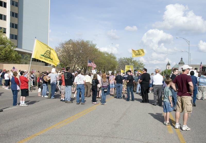 WICHITA, KANSAS - abril 15: Partido de chá, EUA fotos de stock royalty free