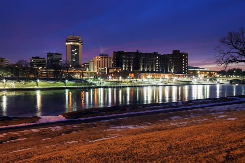 Wichita, Kansas - downtown royalty free stock photo