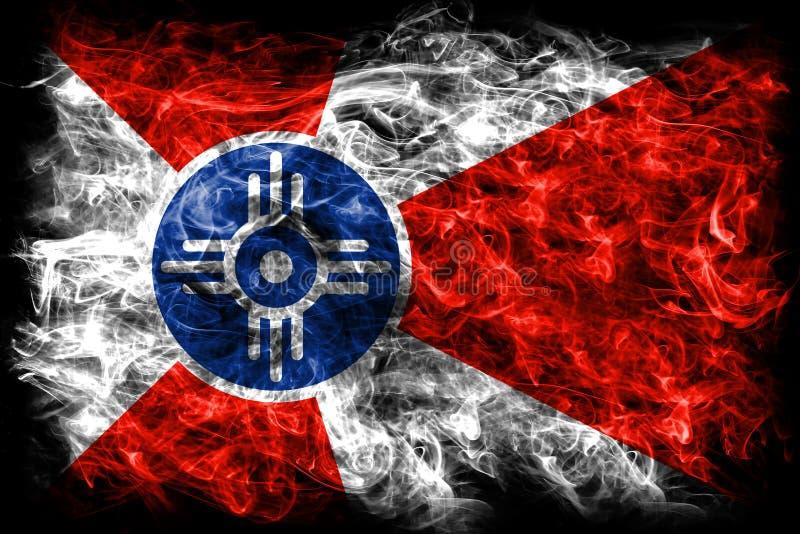 Wichita miasta dymu flaga, Kansas stan, Stany Zjednoczone Ameryka ilustracja wektor