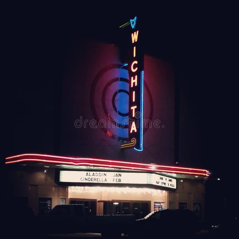 Wichita-Theater lizenzfreie stockfotografie