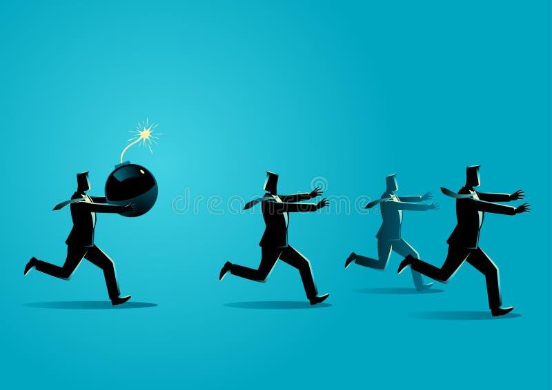 Wichrzyciel przy praca biznesu pojęciem ilustracja wektor