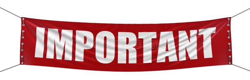 Wichtige Fahne (Beschneidungspfad eingeschlossen) lizenzfreie abbildung