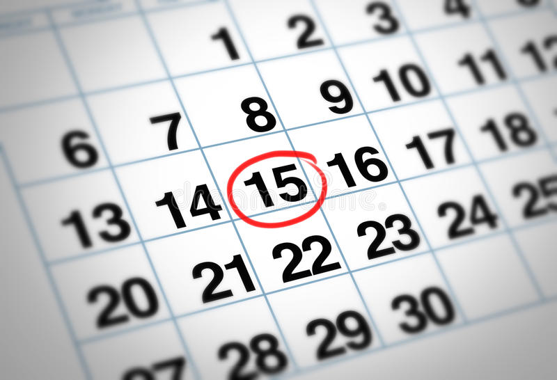 Wichtiges Datum stock abbildung