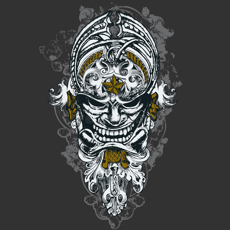 Free Wicked Mask Illustration Stock Images - 9860204