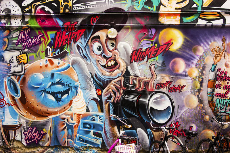 Wicked Photographer Graffiti royalty free stock images
