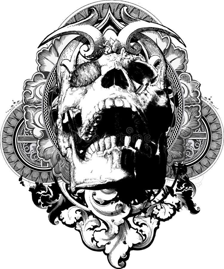 Free Wicked Skull Shield Illustration Royalty Free Stock Photography - 10853567