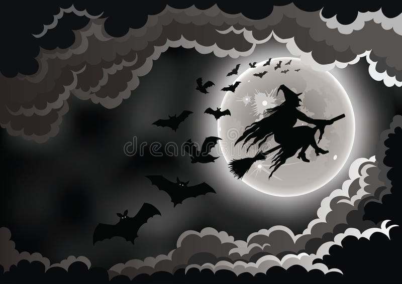 Wicked Witch royalty free illustration