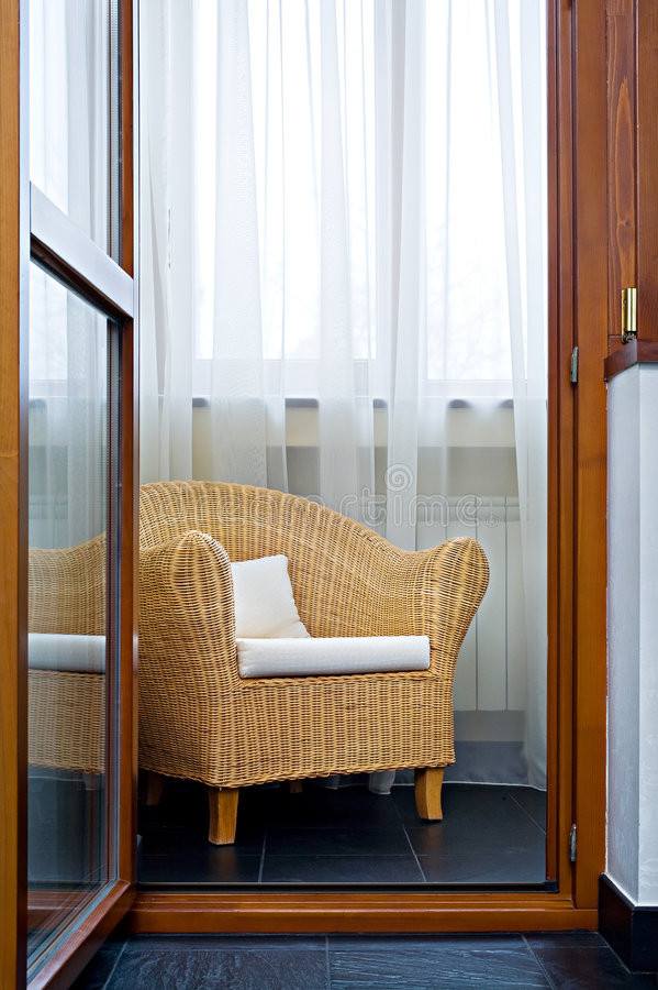 wicker стула стоковые изображения rf