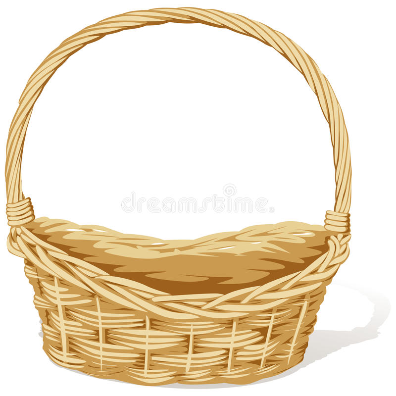 Wicker basket royalty free illustration