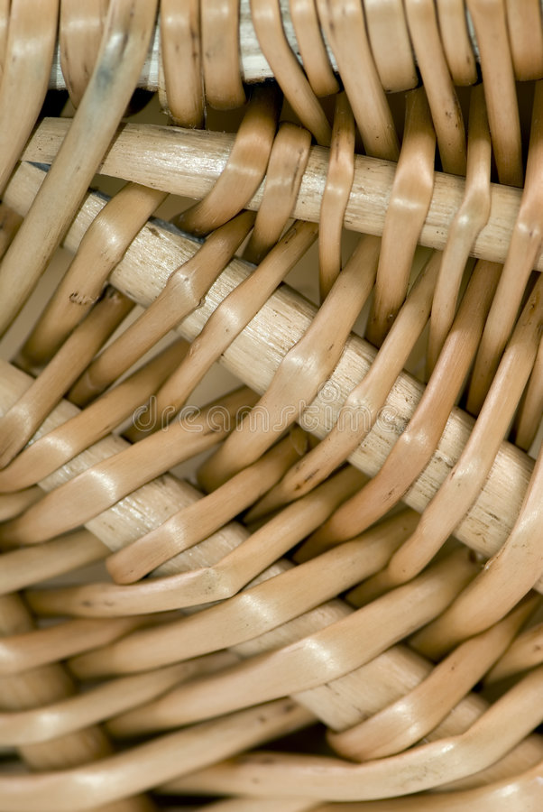 Wicker Basket close up 2 stock images