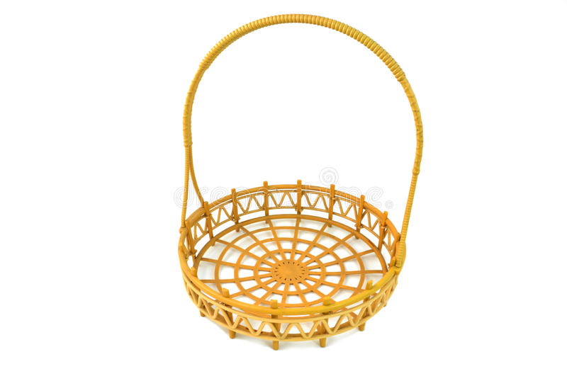 Download Wicker basket isolated stock image. Image of brown, circle - 19321617