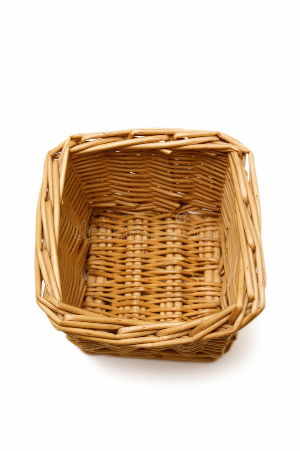 Free Wicker Basket Isolated On A White Background Royalty Free Stock Photos - 13437748