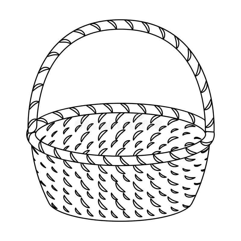 Bamboo Basket Illustration