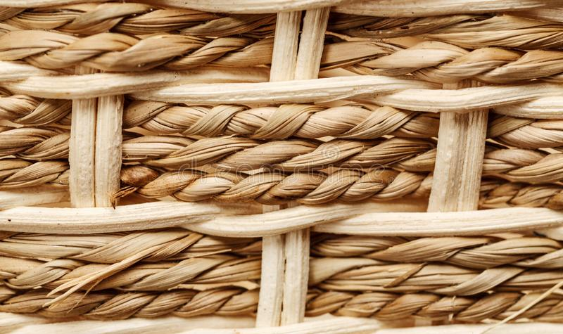 Wicker basket pattern macro shot, abstract texture. Background, weave, closeup, detail, mesh, woven, backdrop, craft, material, surface, textured, weaving royalty free stock images