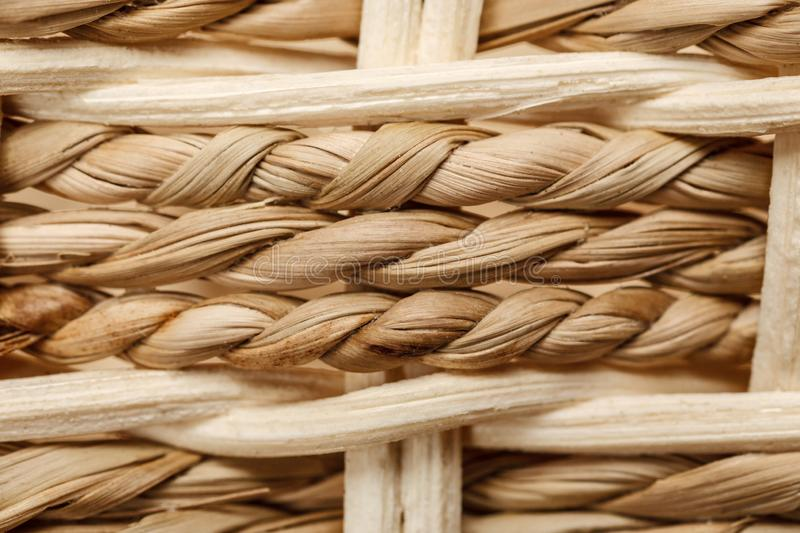 Wicker basket pattern macro shot, abstract texture. Background, weave, closeup, detail, mesh, woven, backdrop, craft, material, surface, textured, weaving royalty free stock photos