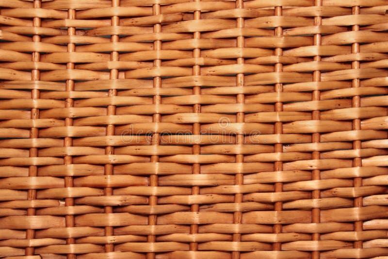 Wicker basket texture stock image